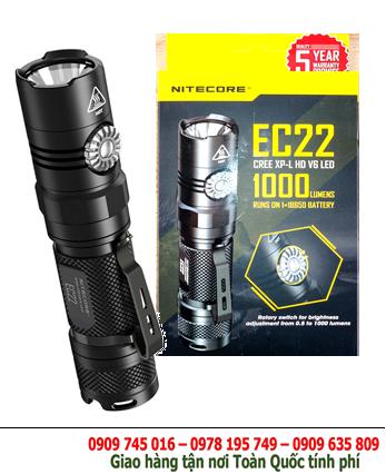 Đèn pin siêu sáng Nitecore EC22 bóng XP-L HD V6 SMO với 1000Lumens chiếu xa 185m