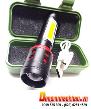 Đèn pin siêu sáng Police U.S.A-002LHD (1616) bóng CREELED, đèn dài 10cm _Xuất xứ Thái Lan